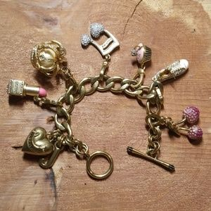 Juicy Couture charm bracelet 6 charms